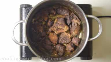 Sear beef from each side until browned, about 10-15 minutes. Remove the meat from the pot*